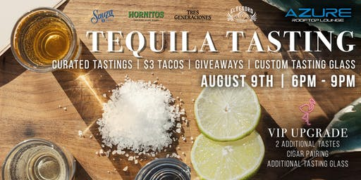 Azure Rooftop Lounge Tequila Tasting