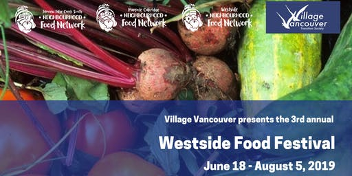 July 18 VV info booth/Kits Village Seed Library at Westside Community Food Market