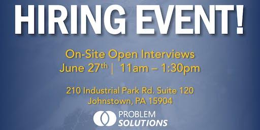 Problem Solutions Open Interviews