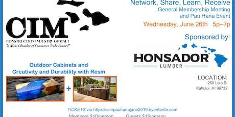 CIM Pau Hana Event, Wednesday June 26th 5-7pm tickets