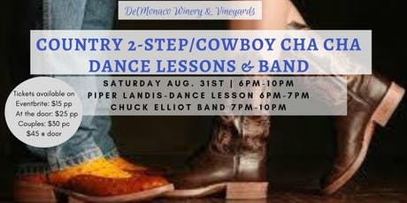 Country 2-Step/Cowboy Cha Cha Lessons and Dance night tickets
