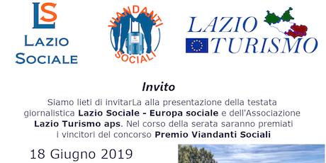 Presentazione di Lazio Turismo e del giornale Lazio Sociale biglietti