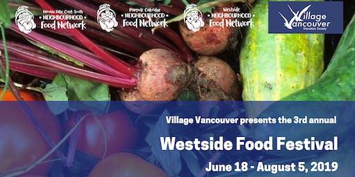 July 25 VV info booth/Kits Village Seed Library at Westside Community Food Market