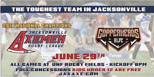 Jacksonville Axemen vs Copperheads RLFC