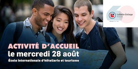 École internationale d'Hôtellerie et Tourisme | Journée d'accueil 2019 billets