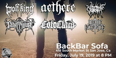 Wolf King & Aethere w/ Continuum and special guests at BackBar SoFa