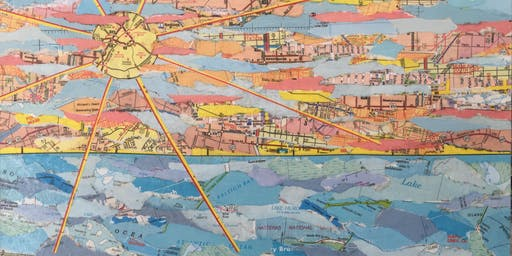Mixed Media Art Workshop: Map Collage