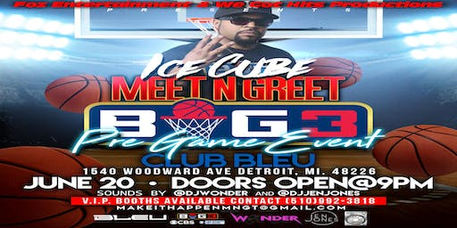 Ice Cube Meet N Greet (Big 3 Pre-Game Event)