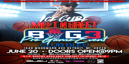 Ice Cube Meet N Greet (Big 3 Pre-Game Event)