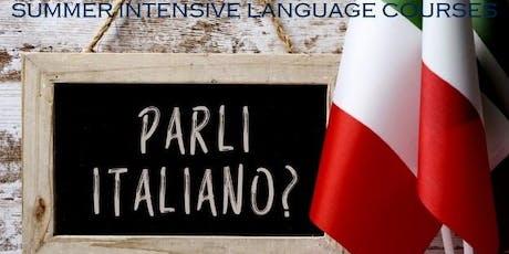 ITALIAN INTENSIVE LANGUAGE COURSE (Intermediate - 1 week) tickets
