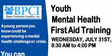 Baker County Youth Mental Health First Aid Training tickets