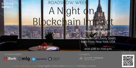 Roadshow Week: A Night on Blockchain Impact tickets