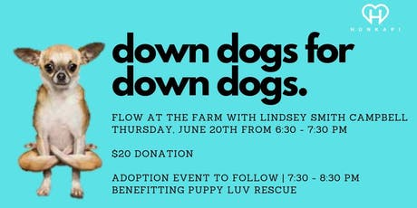 Down Dogs for Down Dogs: Yoga Flow at Hunkapi Farms tickets