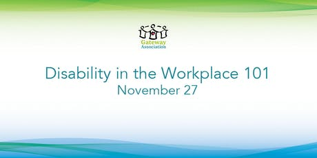 Disability In The Workplace 101 tickets
