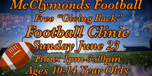 Giving Back Football Clinic