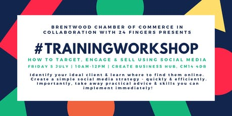 Training Workshop: How To Target, Engage & Sell Using Social Media tickets