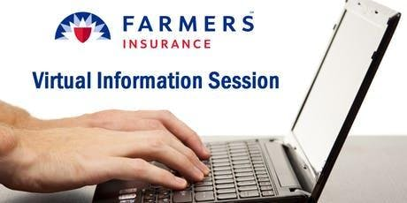 Farmers Insurance Agency Ownership Virtual Informational Session tickets