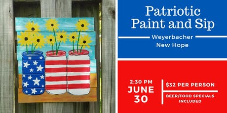 Patriotic Paint and Sip tickets