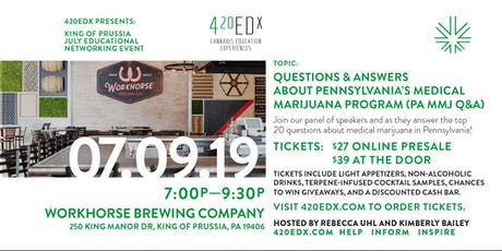 420EDx Presents July Networking Event Q&A About Pennsylvania's MMJ Program  tickets