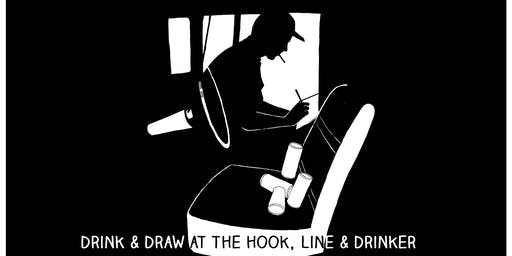 Drink and draw at The Hook, line and drinker