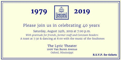Square Books 40th Anniversary Celebration tickets