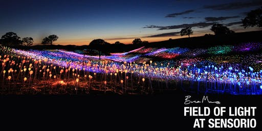 Wednesday   August 14th - BRUCE MUNRO: FIELD OF LIGHT AT SENSORIO
