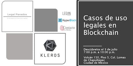 Casos de blockchain y abogados, ¿es eso posible? tickets
