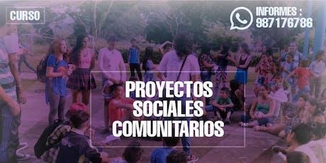 Curso PROYECTOS SOCIALES COMUNITARIOS entradas