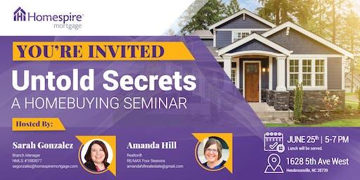 UNTOLD Secrets of Homebuying Seminar