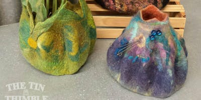 Wet Felted Vessel - Beginner Level