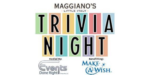 Maggiano's Trivia For Charity