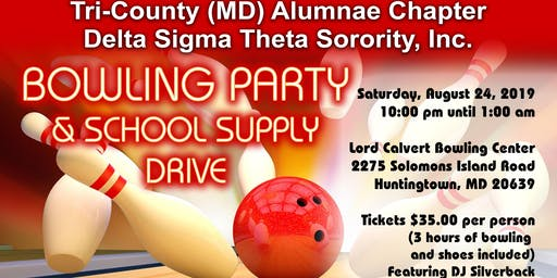 Bowling Party & School Supply Drive