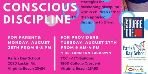 Providers Training-Conscious Discipline (Chesapeake Providers Registration)