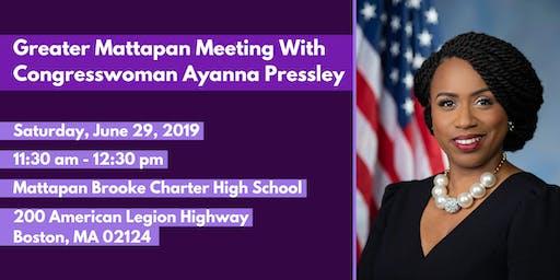 Greater Mattapan Meeting with Congresswoman Ayanna Pressley