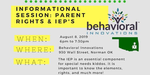 Behavioral Innovations: Parent Rights & IEP's