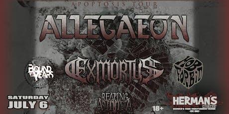 ALLEGAEON w/ Exmortus / Reaping Asmodeia / more TBA tickets