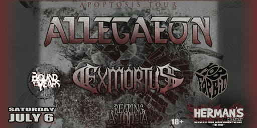 ALLEGAEON w/ Exmortus / Reaping Asmodeia / more TBA