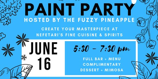 Father's Day Paint and Sip Paint Party @ Nefetari's Hosted by The Fuzzy Pineapple
