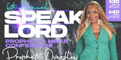 Speak Lord Prophetic MEGA Conference 2019 tickets