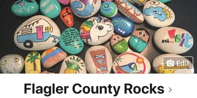 Rock painting in the park at Gamble Rogers
