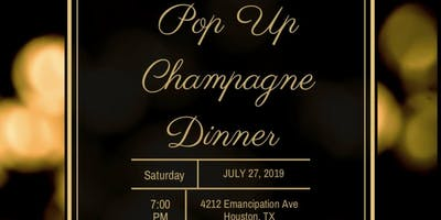 Pop Up Champagne Dinner