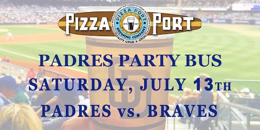 Pizza Port Padres Party Bus Braves Vs. Padres