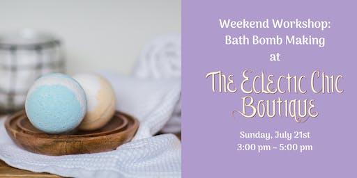 Weekend Workshop: Bath Bomb Making