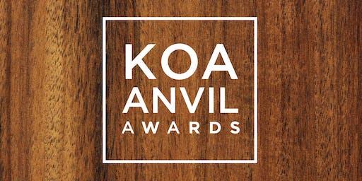 Koa Anvil Awards 2019