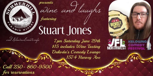 Summerhill Pyramid Winery presents Wine & Laughs with Stuart Jones