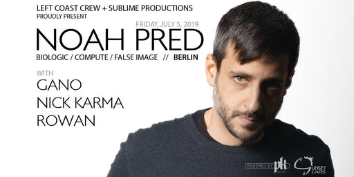 Noah Pred (Berlin) - deep house & techno at Sunset Labs (Victoria)