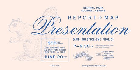 Central Park Squirrel Census Report & Map Presentation tickets