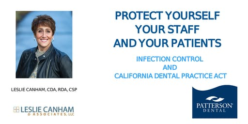 Patterson Infection Control and California Dental Practice Act