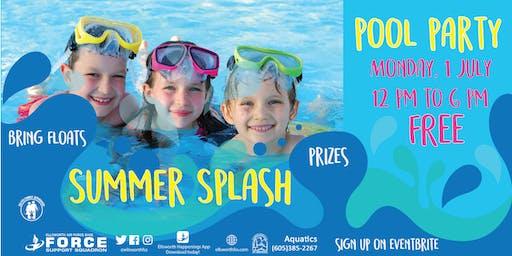 Ellsworth Summer Splash Pool Party July