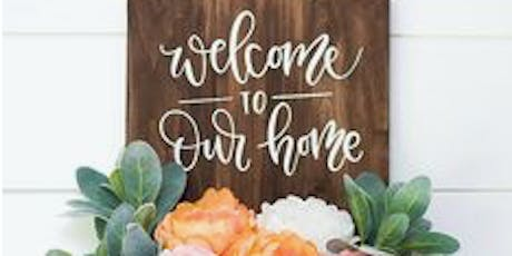 Front Porch Sign Making | Art + Wine Class tickets